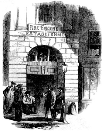 Fire Station Chandos Street 1861