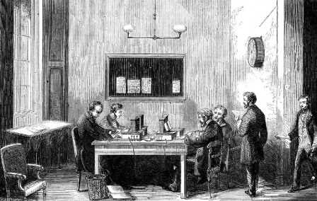 Parliament Telegraph Room 1859